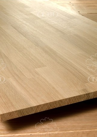 Oak blockboard furniture board. Thickness 20 mm.
