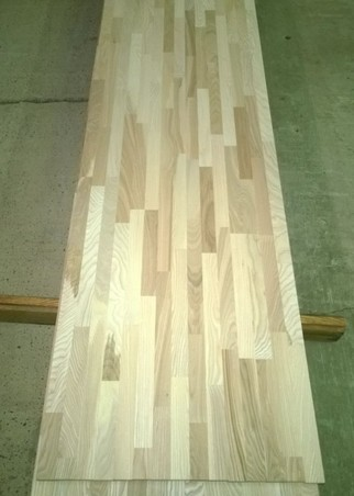 Ash blockboard furniture board. Thickness 20 mm.